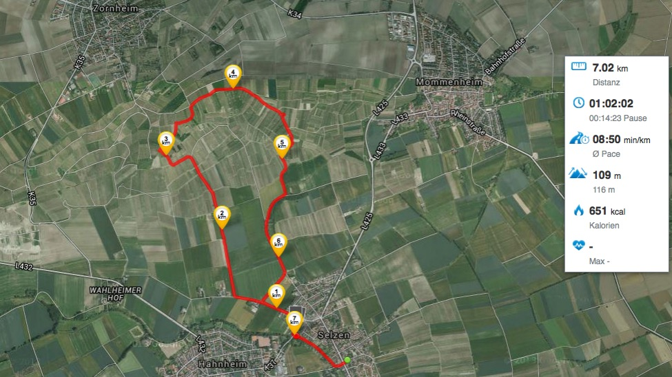 Weites Land 2 - Runtastic-Route