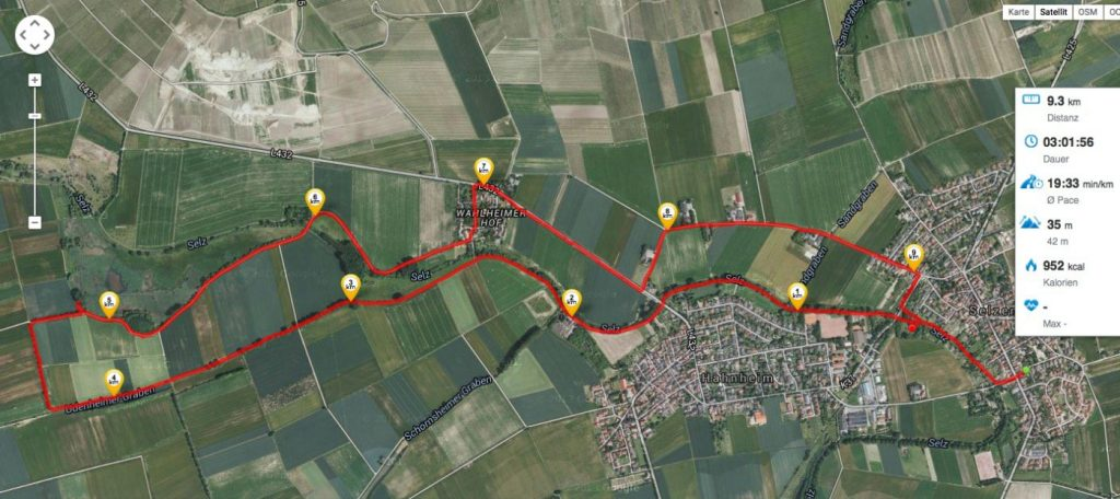 Runtastic-Route am Vatertag 2015