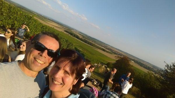 Selfie zur Weinprobe der Kerb von Selzen