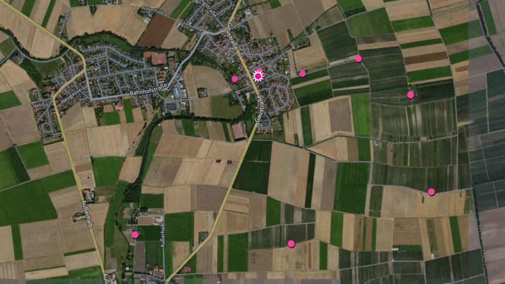 SunriseRun bei Selzen (26.02.2016), Karte