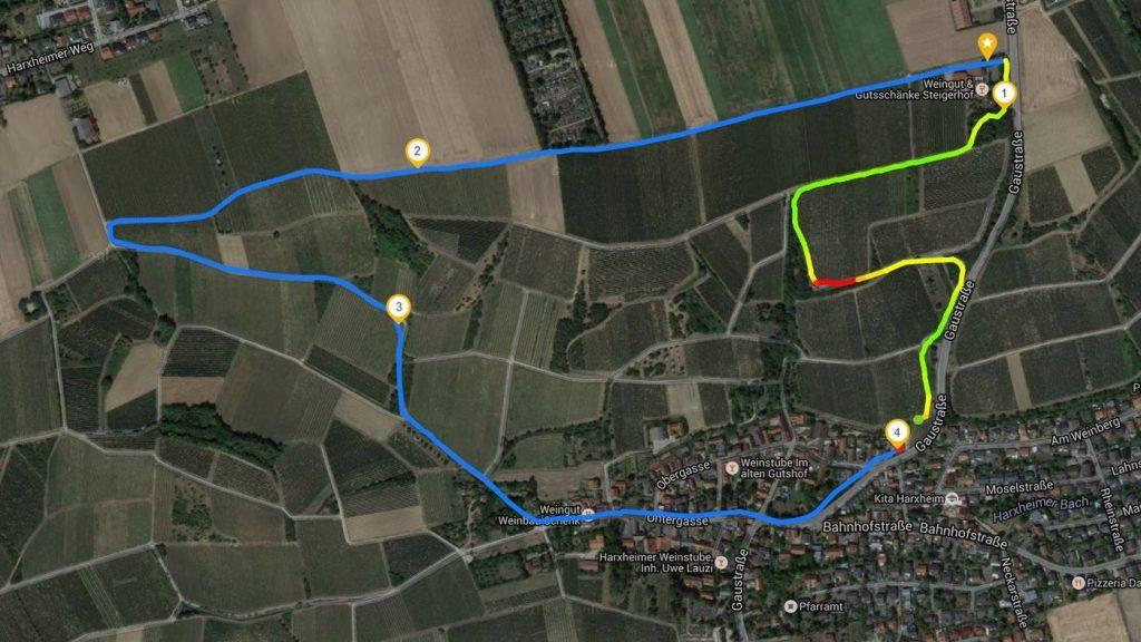 Wanderung bei Harxheim (Route auf Runtastic)