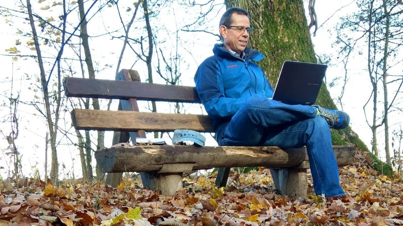 Mobile Office im Ober-Olmer Wald