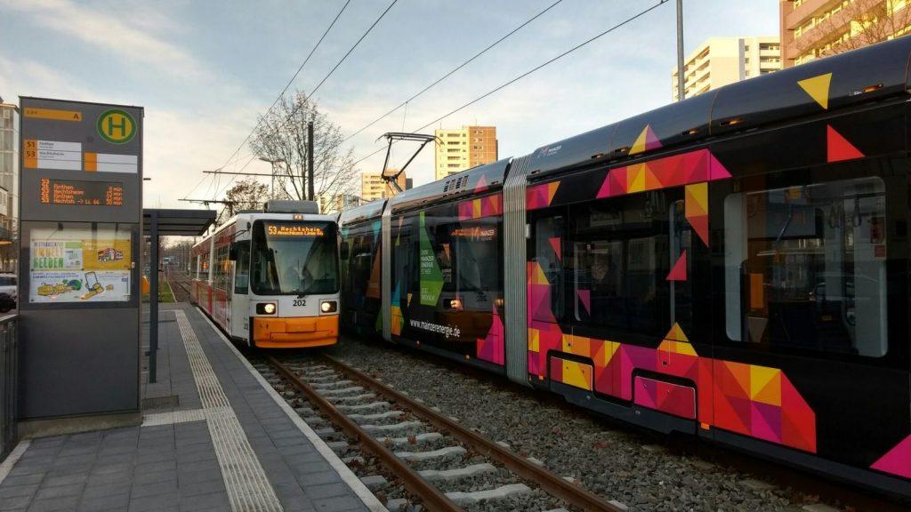 Mainzelbahn auf dem Mainzer Lerchenberg
