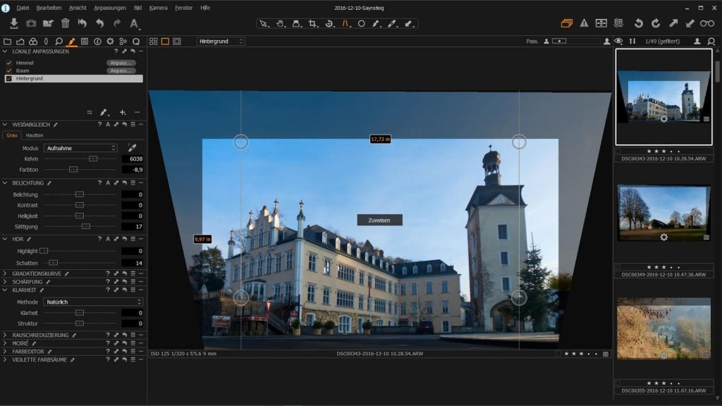 Saynsteig in Capture One