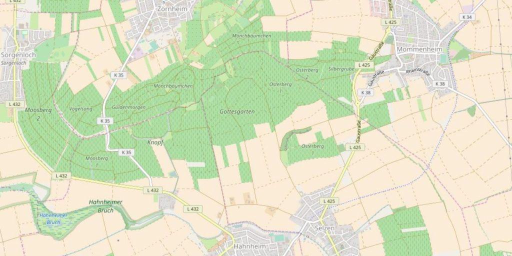 Selzen, Hahnheim und Zornheim (© OpenStreetMap-Mitwirkende)