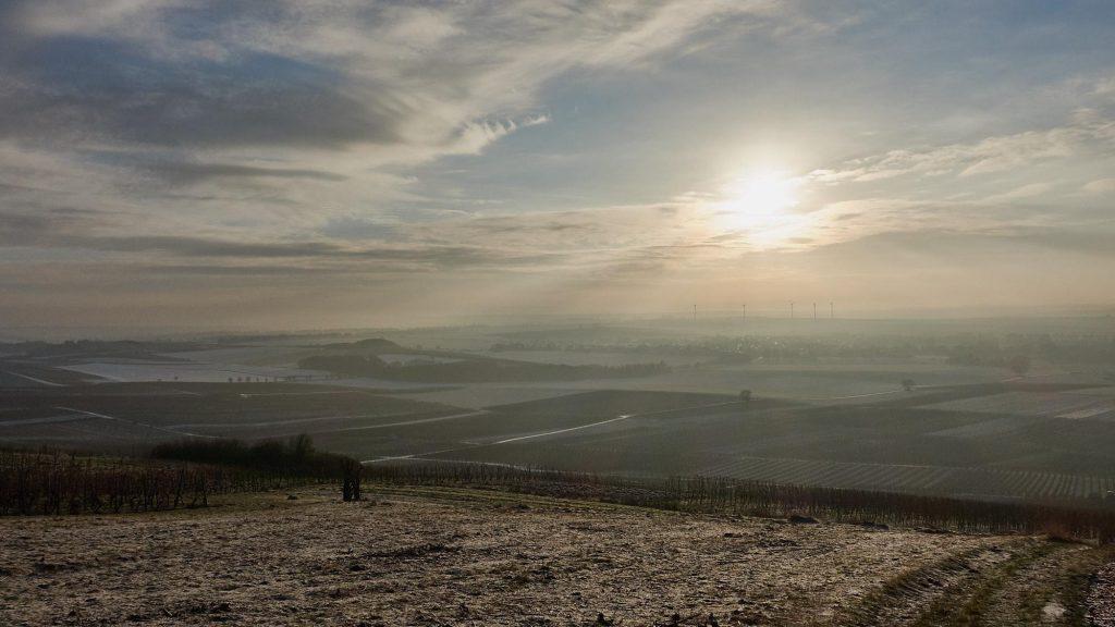 Mystisch: Sonne überm Selztal und Selzen