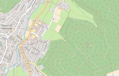 Jenseits von Staßen - Dusenbacher Kopf (Quelle: Openstreetmap)