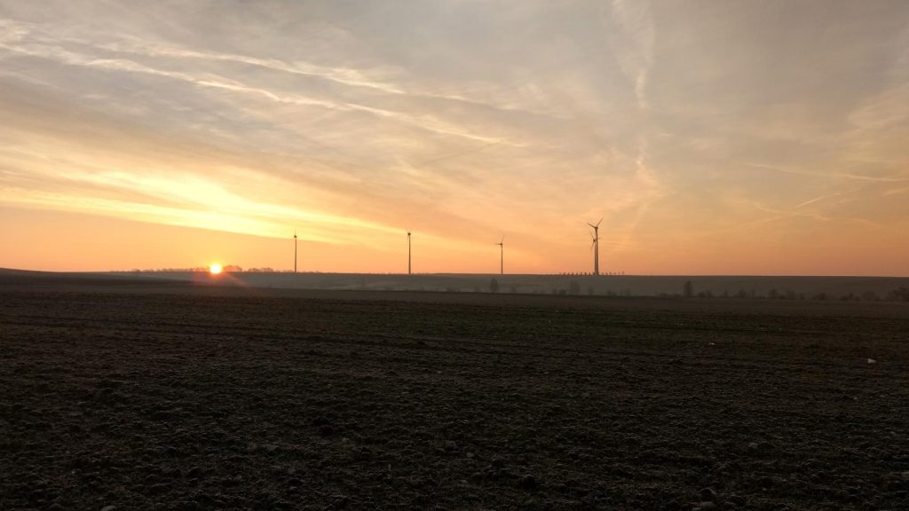 Sonnenaufgang überm Selztal und Selzen #SunriseRun (27.01.2017)