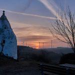 Sonnenaufgang am Trullo auf dem Adelberg bei Flonheim