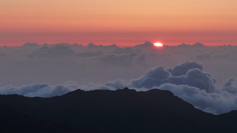 Haleakala Sunrise, aufgenommen am 14.04.2014