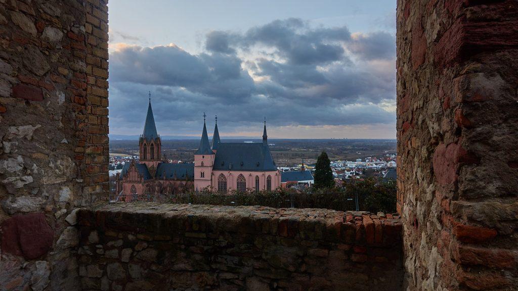 Katharinenkirche Oppenheim - von Burg Landskron