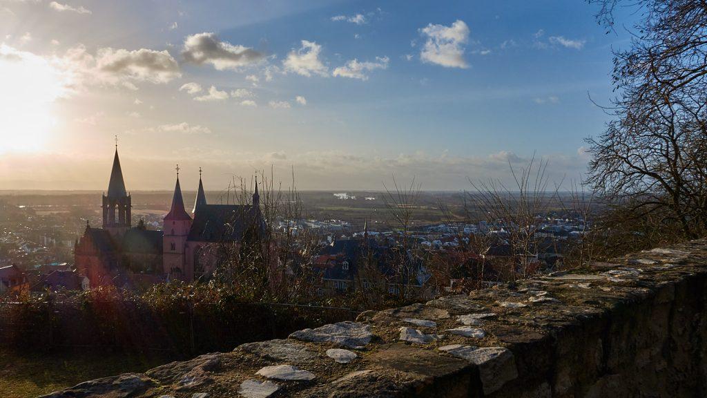 Sonnenaufgang bei der Katharinenkirche Oppenheim