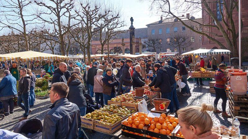 Mainzer Wochenmarkt auf Domplatz und Liebfrauenplatz