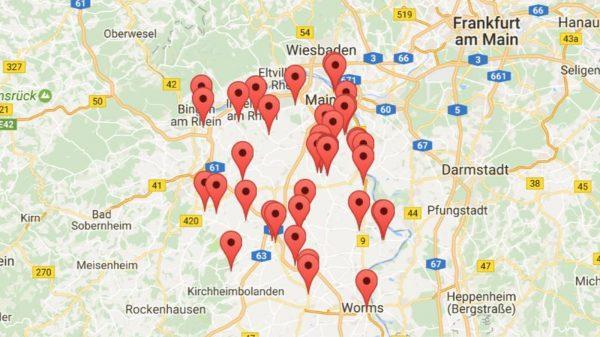 Karte von Veranstaltungsorten