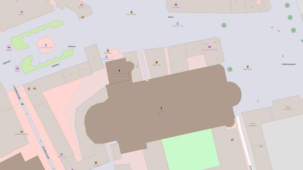 Mainzer Dom (© OpenStreetMap-Mitwirkende)