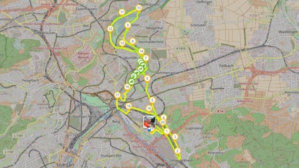 Aufzeichnung des Stuttgartlaufs am 25.06.2017