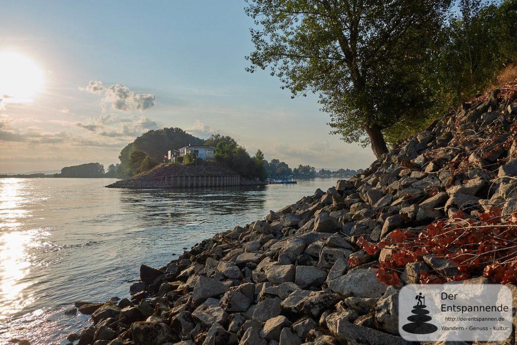 Einfahrt vom Rhein zum Eicher See