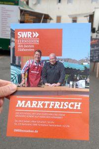 SWR Marktfrisch: Kochduell am 24.08.2017 in Selzen (Flyer des SWR)
