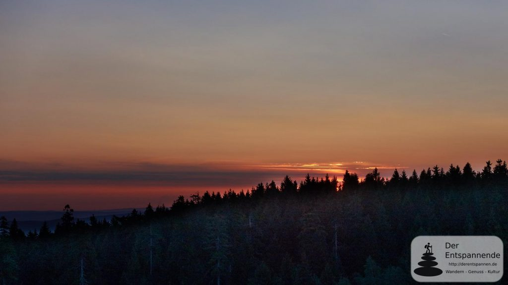 Sonnenaufgang vom 11. Stock des TREFF Hotel Panorama Oberhof
