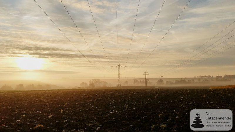 Joggen im Herbstnebel zwischen Selzen und Dexheim