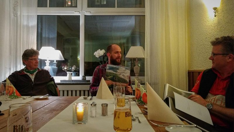 Mit Fotograf Sven Nieder im Gillenfelder Hof