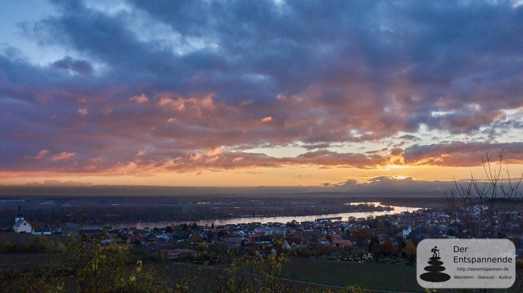 Sonnenaufgang über Nierstein am Rhein