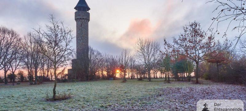 Sonnenaufgang beim Wartbergturm Alzey