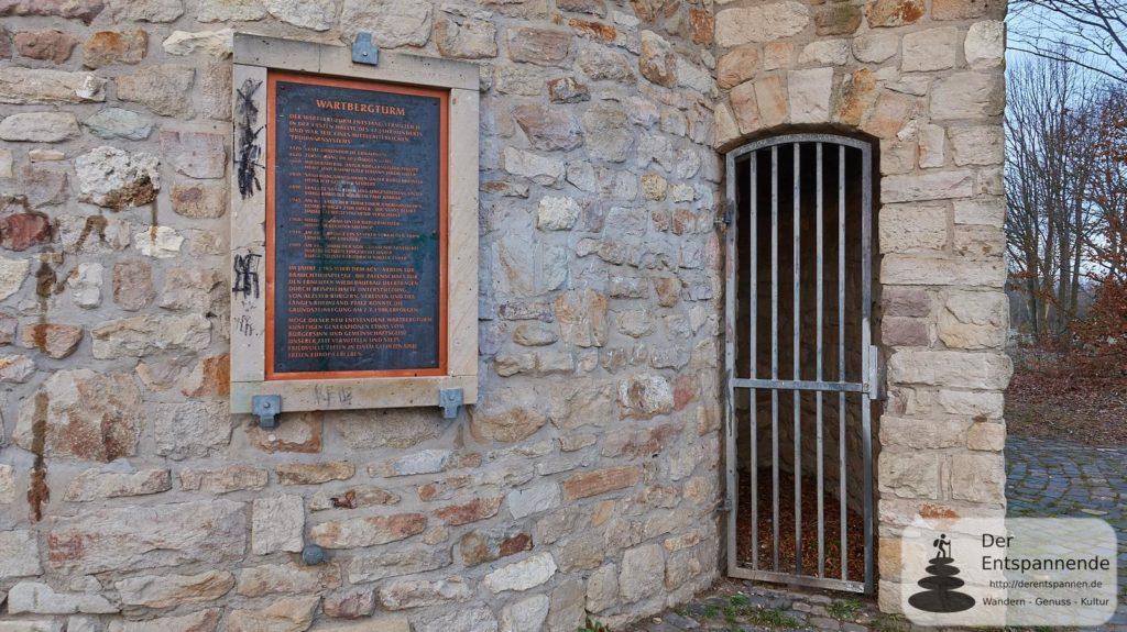Wartbergturm Alzey: Vermeintlicher Eingang