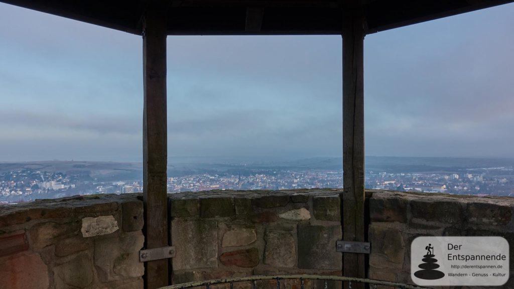 Sonnenaufgang beim Wartbergturm Alzey: Blick auf Alzey