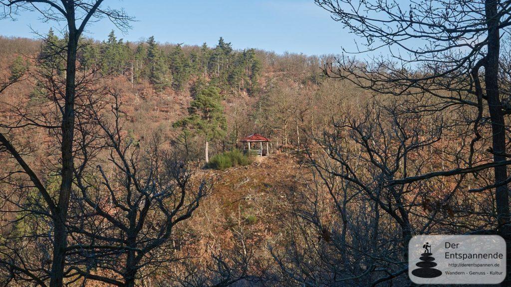 Blick auf Huttentalblick (Ebernburger Wald)