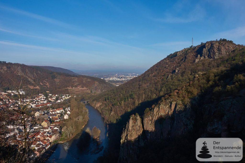 Nahetal und Bad Kreuznach in der Ferne