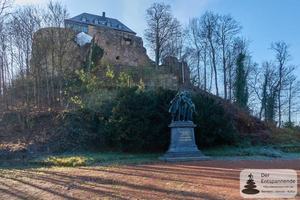 Burg Ebernburg mit Ulrich von Hutten und Franz von Sickingen