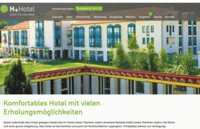 H+ Hotel Limes Thermen Aalen (Quelle: Screenshot h-hotels.com)