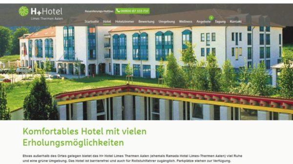 H+ Hotel Limes Thermen Aalen (Quelle: Screenshot h-hotels.com)
