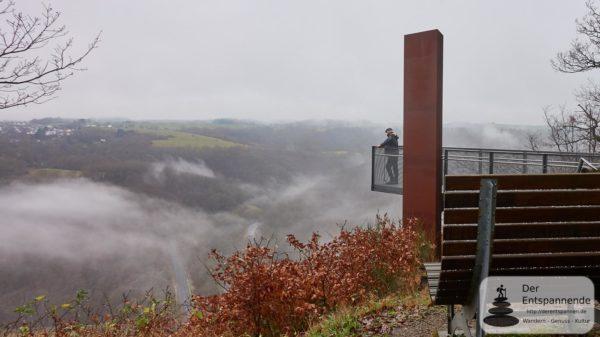 Maarwanderer Herbert Peck auf dem Skywalk Achterhöhe