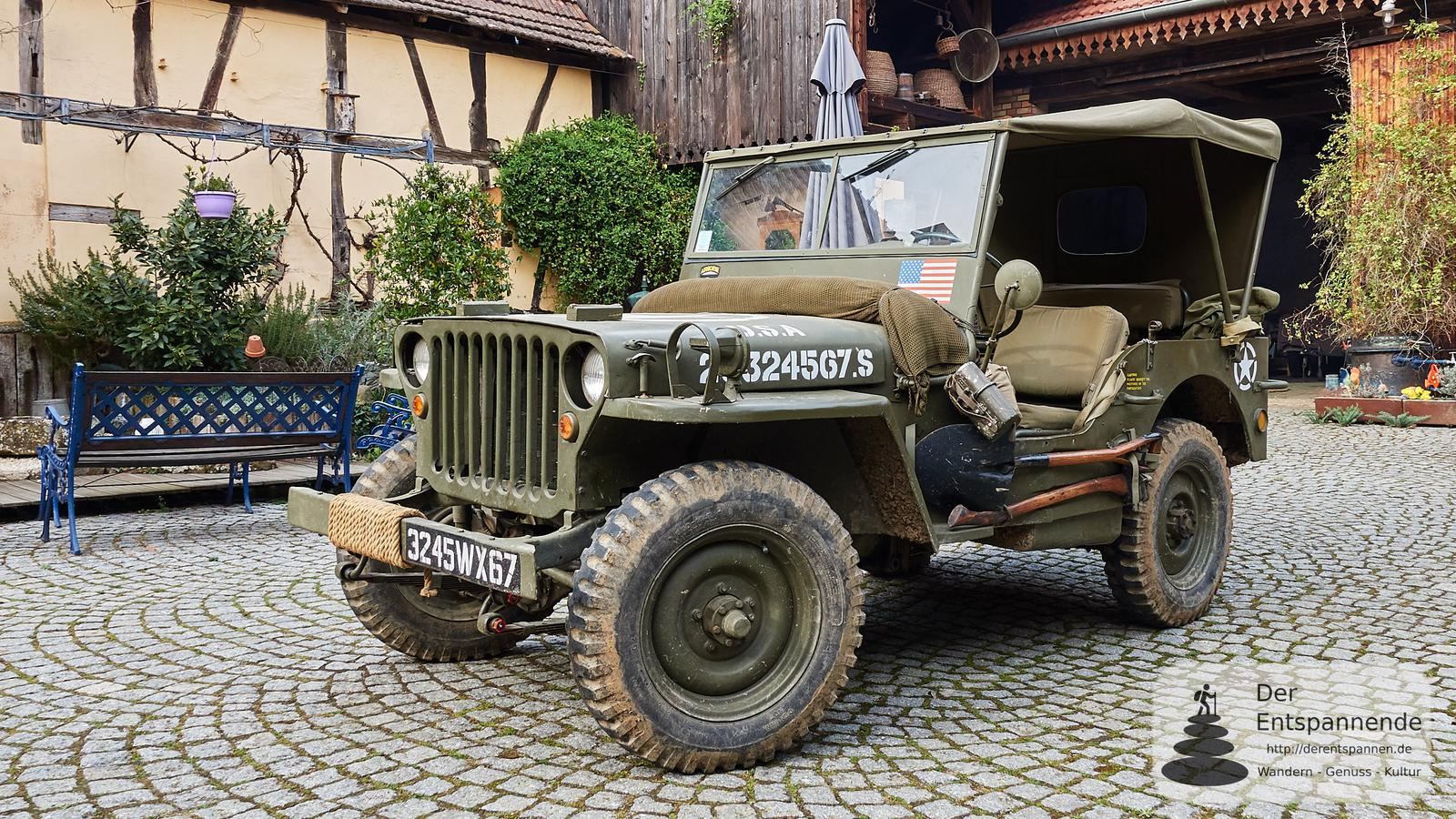 mit einem jeep willys von 1943 im elsass bei mietesheim. Black Bedroom Furniture Sets. Home Design Ideas