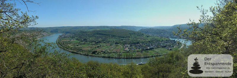 Mittelrhein-Klettersteig: Rheinschleife bei Boppard