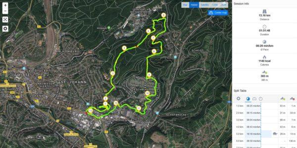 Runtastic: Laufen in Saarbrücken am Saarcamp (Aufzeichnung)
