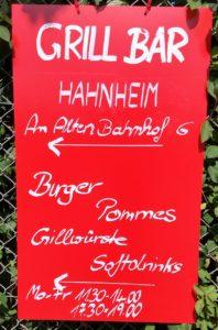 Grillbar Hahnheim (Plakat)