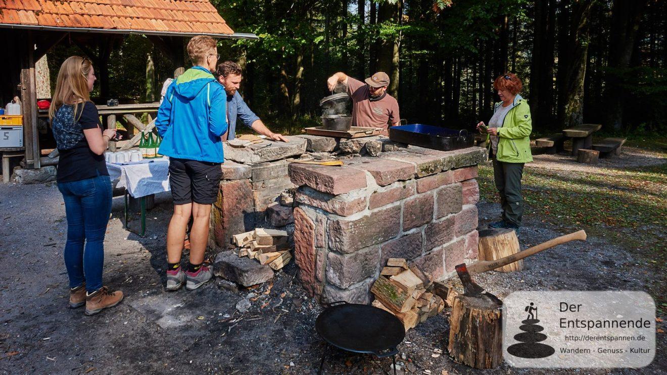 Outdoor-Cooking an der Hirschwinkelhütte mit