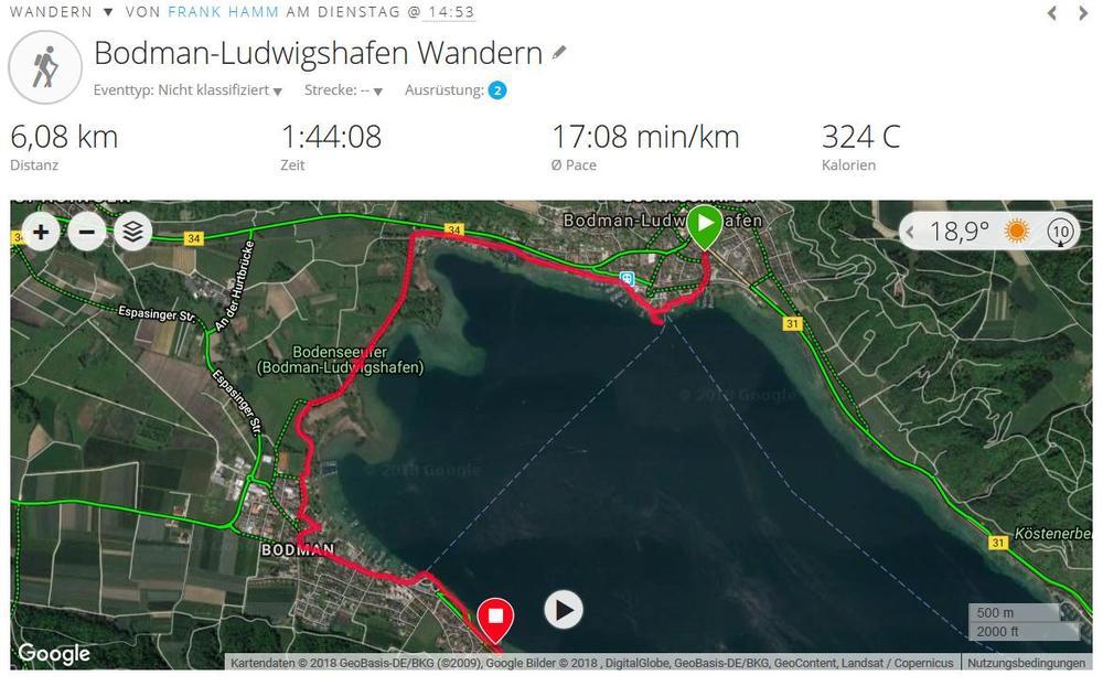 Von Ludwigshafen nach Bodman (2018, Quelle Garmin Connect9