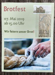 Brotfest am 7. Mai 2019 ab 15 Uhr, Holzofenbäckerei Hahnheim