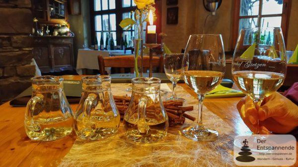 Weinprobe im Winzerhof Gietzen