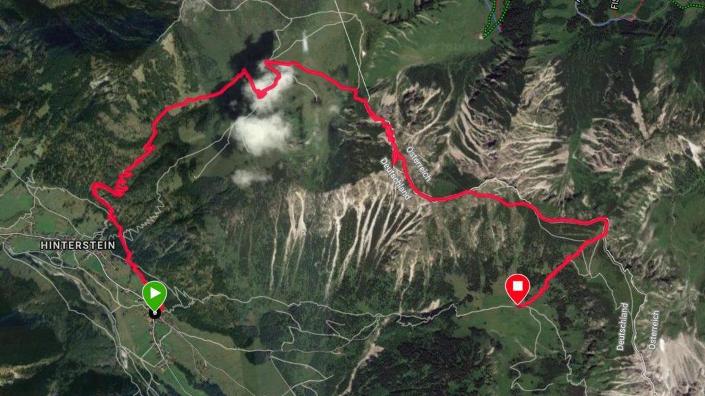 Grenzgänger 2019: Tracking Etappe 1 (Quelle: Garmin)