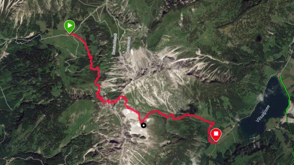 Grenzgänger 2019: Tracking Etappe 2 (Quelle: Garmin)