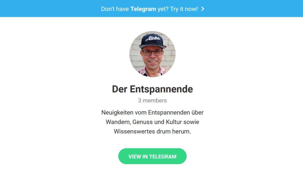 Der Entspannende in Telegram