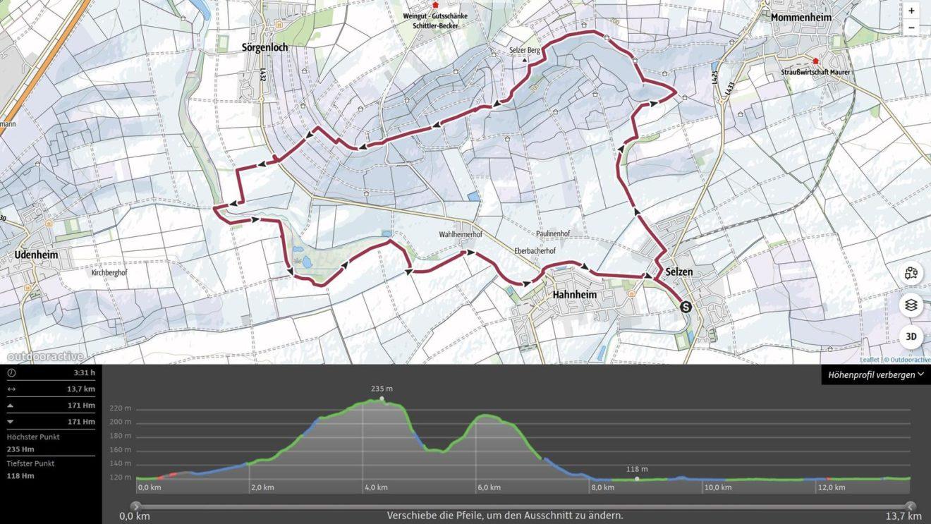 Tag des Wanderns 2020 - Wandern am Selzbogen (vorläufige Strecke)
