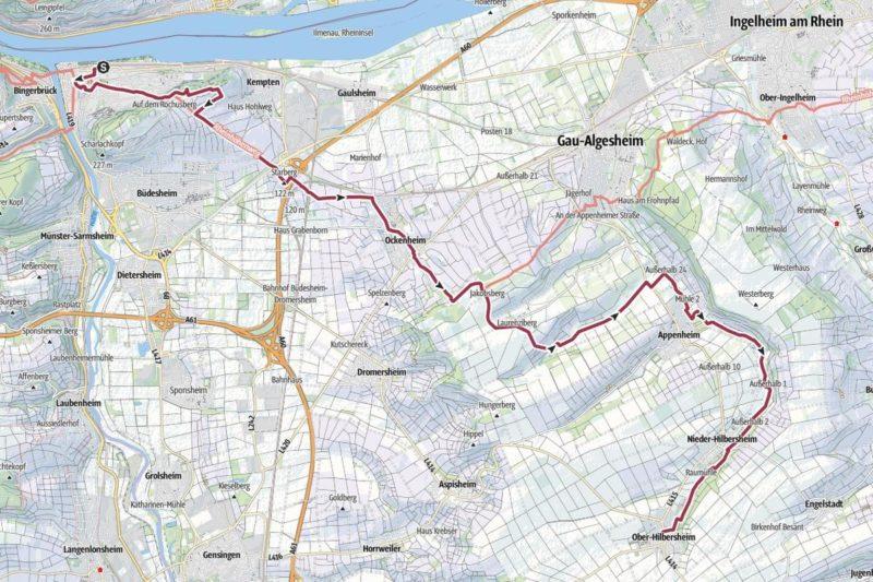 Jakobsweg Rheinhessen: Etappe 1 von Bingen nach Ober-Hilbersheim (geplant mit Outdooractive)