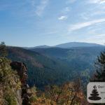 Rabenklippe: Blick auf den Brocken (Luchstour Bad Harzburg)