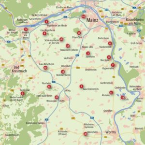 Rheinhessen. Wanderungen für die Seele (Karte)